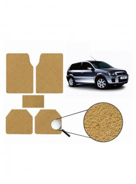 True Vision Car Anti Slip Noodle Floor / Foot Mats Set of 5 Beige For Ford Fusion