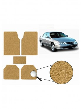 True Vision Car Anti Slip Noodle Floor / Foot Mats Set of 5 Beige For Honda Accord 2.3 Type 1  - 2000-2007
