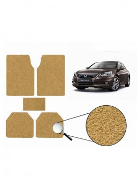 True Vision Car Anti Slip Noodle Floor / Foot Mats Set of 5 Beige For Honda Accord Type 4  - 2012-2015