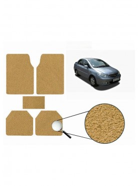 True Vision Car Anti Slip Noodle Floor / Foot Mats Set of 5 Beige For Honda City Type 3  - 2005 2008
