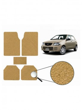 True Vision Car Anti Slip Noodle Floor / Foot Mats Set of 5 Beige For Honda City Type 5  - 2014-2015