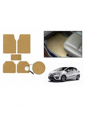 True Vision Car Anti Slip Noodle Floor / Foot Mats Set of 5 Beige For Honda Jazz Type 2  - 2015 2016