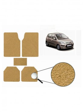 True Vision Car Anti Slip Noodle Floor / Foot Mats Set of 5 Beige For Hyundai i10 Type 1  - 2007-2012