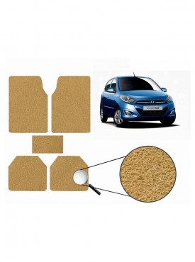 True Vision Car Anti Slip Noodle Floor / Foot Mats Set of 5 Beige For Hyundai i10 Type 2  - 2012-2015