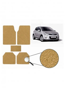 True Vision Car Anti Slip Noodle Floor / Foot Mats Set of 5 Beige For Hyundai i20 Type 1  - 2008-2013