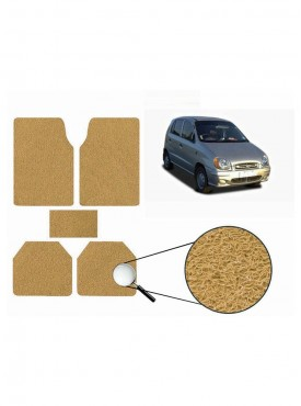 True Vision Car Anti Slip Noodle Floor / Foot Mats Set of 5 Beige For Hyundai Santro