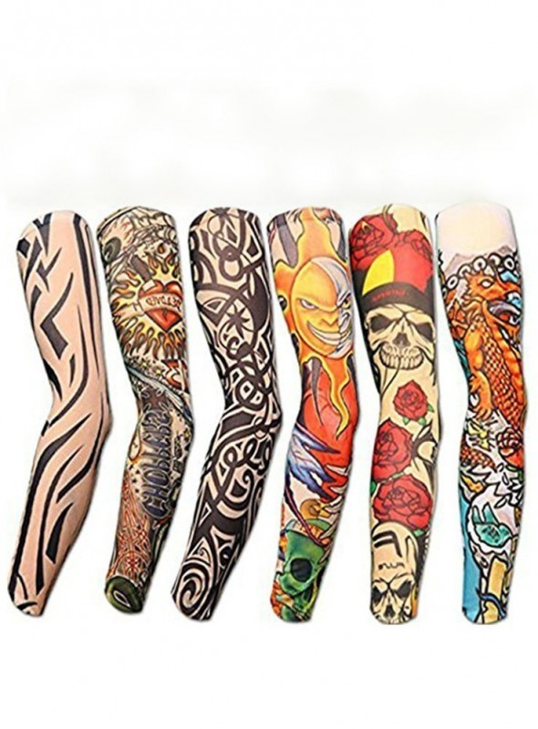 Pack of 3 Pair Multicolored Tattoo Arm Sleeve