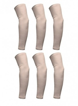 Pack of 3 Pair Beige Arm Sleeve