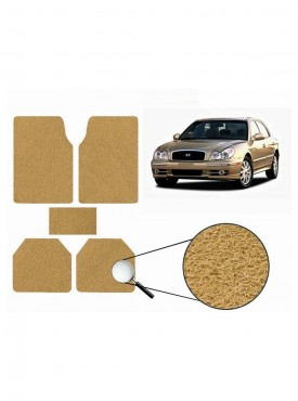 True Vision Car Anti Slip Noodle Floor / Foot Mats Set of 5 Beige For Hyundai Sonata Old