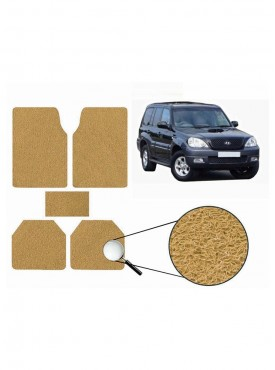 True Vision Car Anti Slip Noodle Floor / Foot Mats Set of 5 Beige For Hyundai Terracan