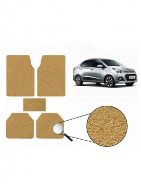 True Vision Car Anti Slip Noodle Floor / Foot Mats Set of 5 Beige For Hyundai Xcent