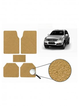 True Vision Car Anti Slip Noodle Floor / Foot Mats Set of 5 Beige For Mahindra Rexton