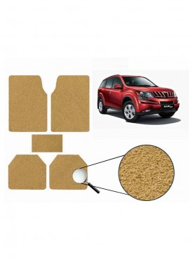 True Vision Car Anti Slip Noodle Floor / Foot Mats Set of 5 Beige For Mahindra XUV 500 Type 1  - 2012-2014