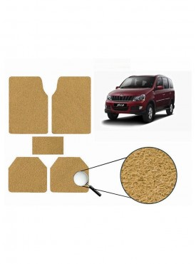 True Vision Car Anti Slip Noodle Floor / Foot Mats Set of 5 Beige For Mahindra Xylo Type 1  - 2007-2009