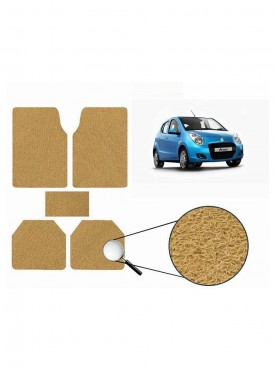 True Vision Car Anti Slip Noodle Floor / Foot Mats Set of 5 Beige For Maruti A Star