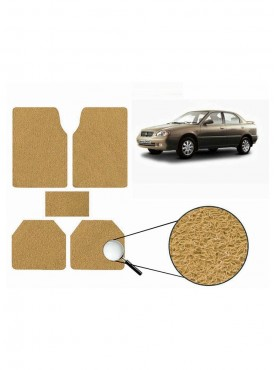 True Vision Car Anti Slip Noodle Floor / Foot Mats Set of 5 Beige For Maruti Baleno