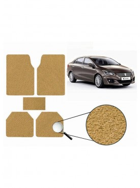 True Vision Car Anti Slip Noodle Floor / Foot Mats Set of 5 Beige For Maruti Ciaz