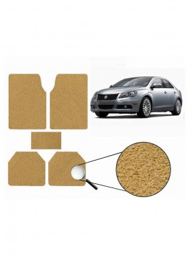 True Vision Car Anti Slip Noodle Floor / Foot Mats Set of 5 Beige For Maruti Gypsy MG-410