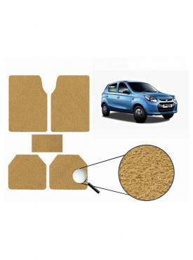 True Vision Car Anti Slip Noodle Floor / Foot Mats Set of 5 Beige For Maruti New Alto 800