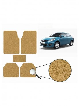 True Vision Car Anti Slip Noodle Floor / Foot Mats Set of 5 Beige For Maruti Ritz