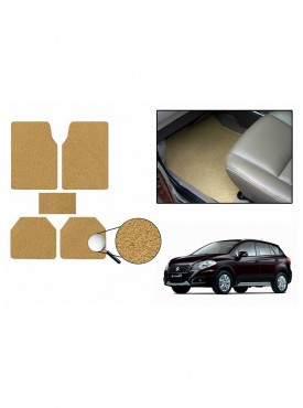 True Vision Car Anti Slip Noodle Floor / Foot Mats Set of 5 Beige For Maruti S-Cross