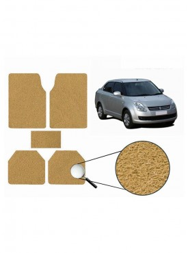 True Vision Car Anti Slip Noodle Floor / Foot Mats Set of 5 Beige For Maruti Swift Dzire Old