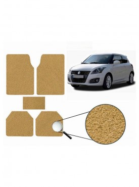 True Vision Car Anti Slip Noodle Floor / Foot Mats Set of 5 Beige For Maruti Swift New
