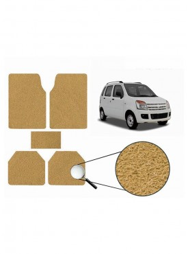 True Vision Car Anti Slip Noodle Floor / Foot Mats Set of 5 Beige For Maruti WagonR Type 1  - 1998-2003