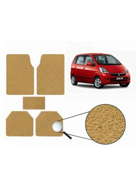 True Vision Car Anti Slip Noodle Floor / Foot Mats Set of 5 Beige For Maruti Zen Estilo Type 1  - 2006-2013