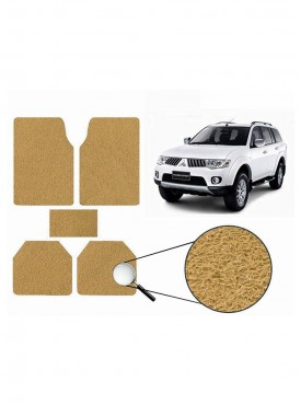 True Vision Car Anti Slip Noodle Floor / Foot Mats Set of 5 Beige For Mitsubishi Pajero Sport