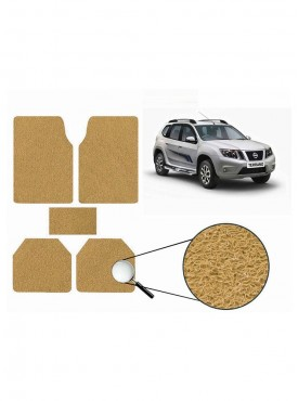 True Vision Car Anti Slip Noodle Floor / Foot Mats Set of 5 Beige For Nissan Terrano