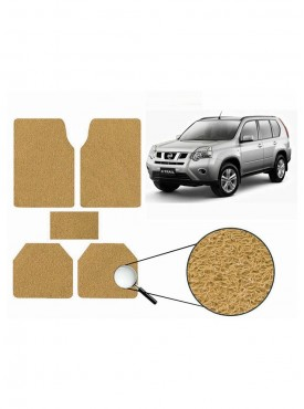 True Vision Car Anti Slip Noodle Floor / Foot Mats Set of 5 Beige For Nissan X-Trail