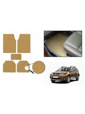 True Vision Car Anti Slip Noodle Floor / Foot Mats Set of 5 Beige For Renault Duster 4X4
