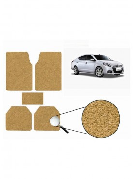 True Vision Car Anti Slip Noodle Floor / Foot Mats Set of 5 Beige For Renault Scala