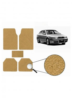 True Vision Car Anti Slip Noodle Floor / Foot Mats Set of 5 Beige For Skoda Octavia Type 1  - 2001-2010
