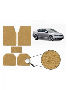 True Vision Car Anti Slip Noodle Floor / Foot Mats Set of 5 Beige For Skoda Octavia Type 2  - 2013-2015