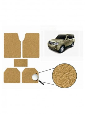 True Vision Car Anti Slip Noodle Floor / Foot Mats Set of 5 Beige For Tata Sumo Grande