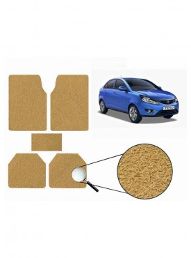 True Vision Car Anti Slip Noodle Floor / Foot Mats Set of 5 Beige For Tata Zest