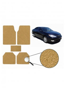 True Vision Car Anti Slip Noodle Floor / Foot Mats Set of 5 Beige For Toyota Camry Type 1  - 2002-2006