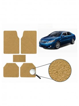 True Vision Car Anti Slip Noodle Floor / Foot Mats Set of 5 Beige For Toyota Camry Type 2  - 2007-2011