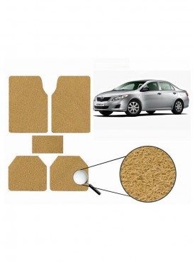 True Vision Car Anti Slip Noodle Floor / Foot Mats Set of 5 Beige For Toyota Corolla Altis Type 1  - 2012-2013