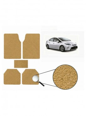 True Vision Car Anti Slip Noodle Floor / Foot Mats Set of 5 Beige For Toyota Prius Hybrid