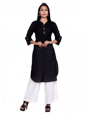 Gaurangi Cotton Women's Textured Kurti Designer Wear Kurta Tunic