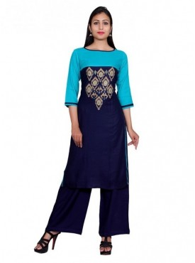 Gaurangi Women's  Party Wear Designer Embroidered Kurti Kurta