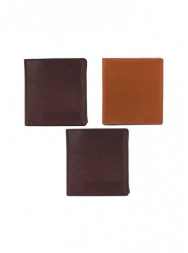 Combo of Black, Brown and Tan Wallet (Pack of 3)