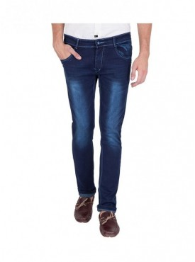 US Blue Men Stretchable Dark Blue Jeans