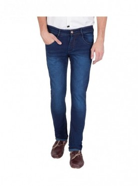 US Blue Men Blue Slim Fit Cotton Stretchable Jeans