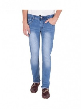 US Blue Men Light Blue Cotton Slim fit Jeans