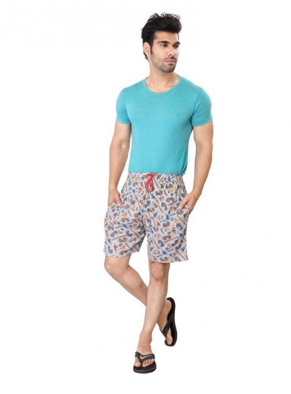 Bfly Men's Printed Multi Color Cotton Shorts