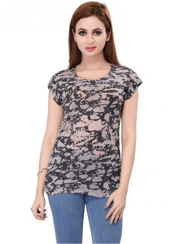 Bfly Cotton Lycra Printed Top